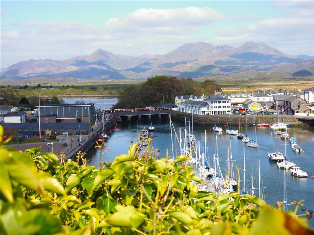 View overlooking Porthmadog's harbour
