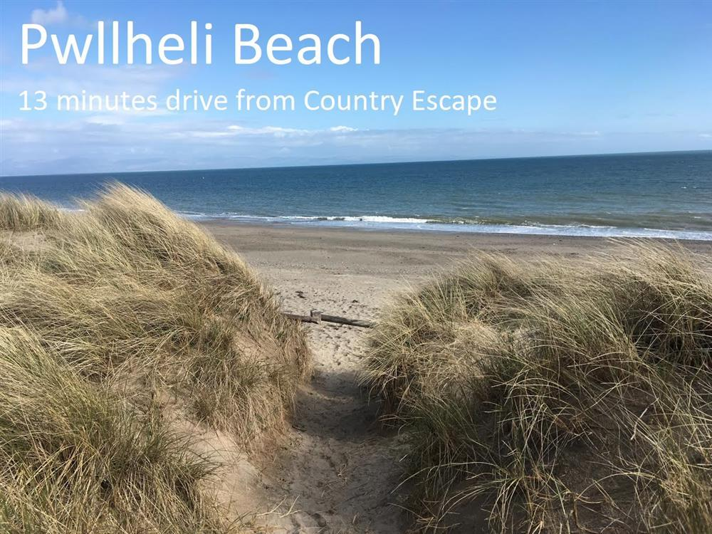 Pwllheli Beach is 5.9 miles down the coast from Country Escape cottage. Only a 13 minutes drive away!