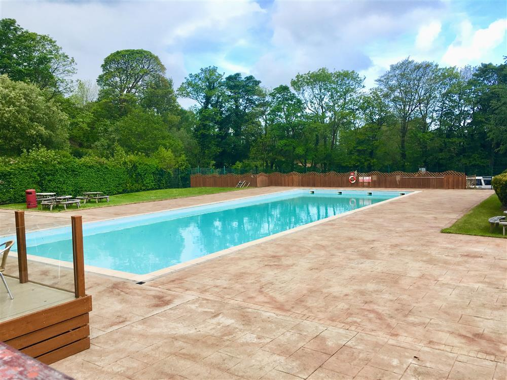 Shared Swimming Pool at Glan Gwna. Swimming Pool is open between May Half Term to the start of September.