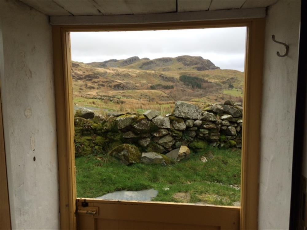 The view from Cae Canol Cottage front door