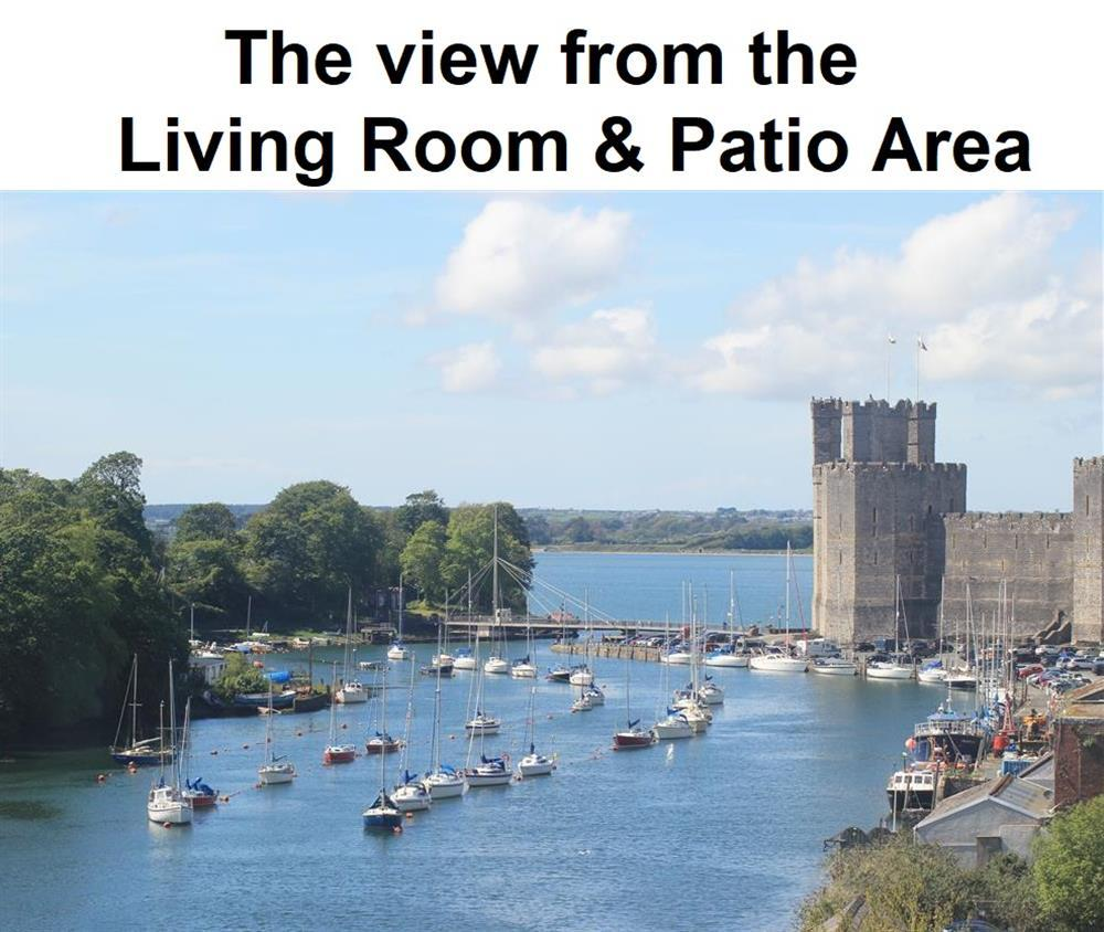 View of Caernarfon Castle and Menai Straits