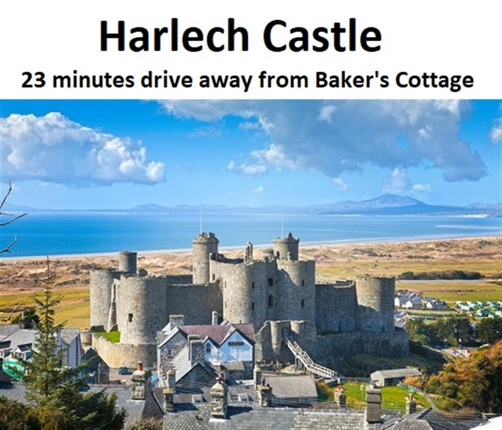 Harlech Castle is 10.4 miles away from Baker's Cottage