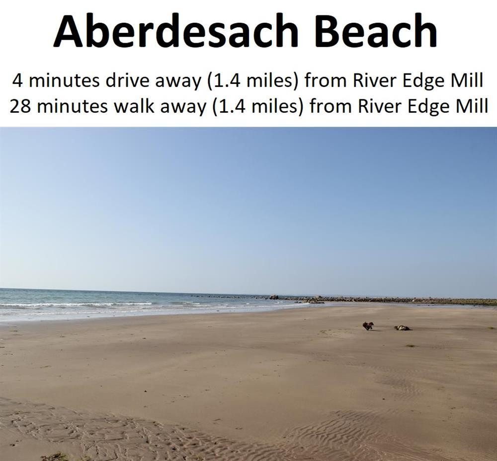 When you are in the car park area looking out to sea, this area of sandy beach is beyond the rocks pools to your right, about 6 minutes walk away from the car park area.
