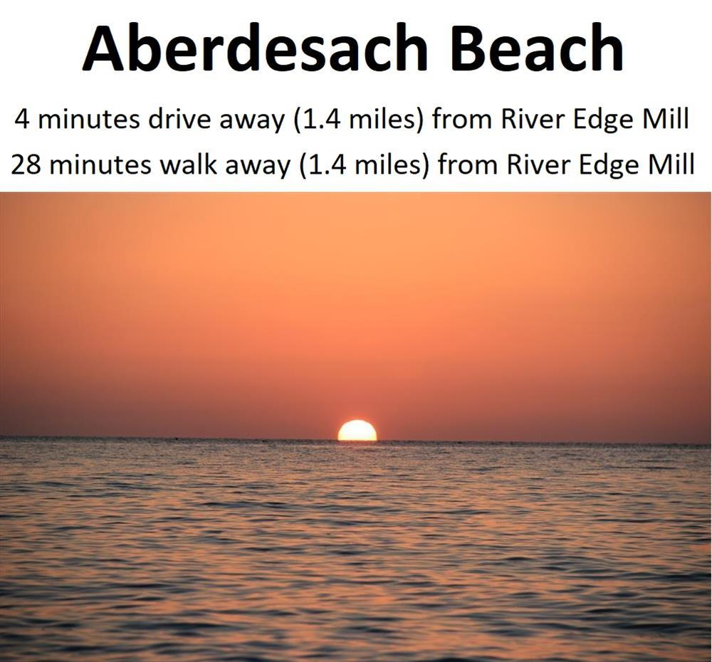 Aberdesach beach has stunning sunsets throughout the year