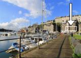 View from Porthmadog Harbour of the apartment.
