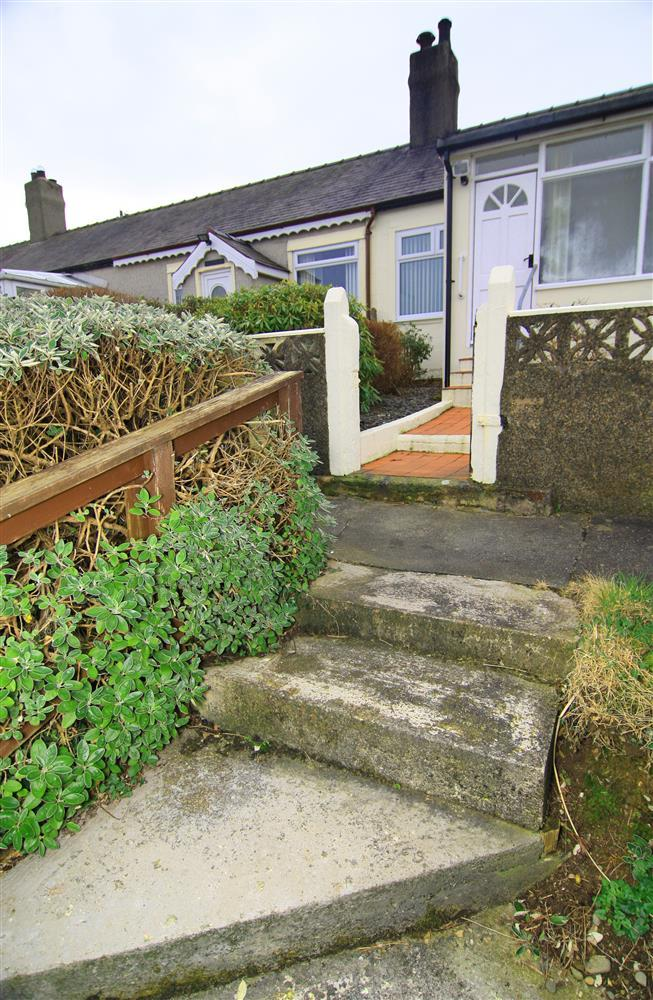Steps leading up to house