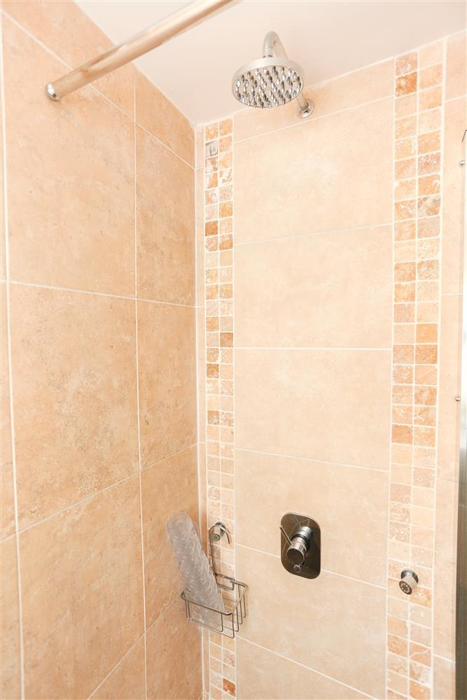 Close up of the shower