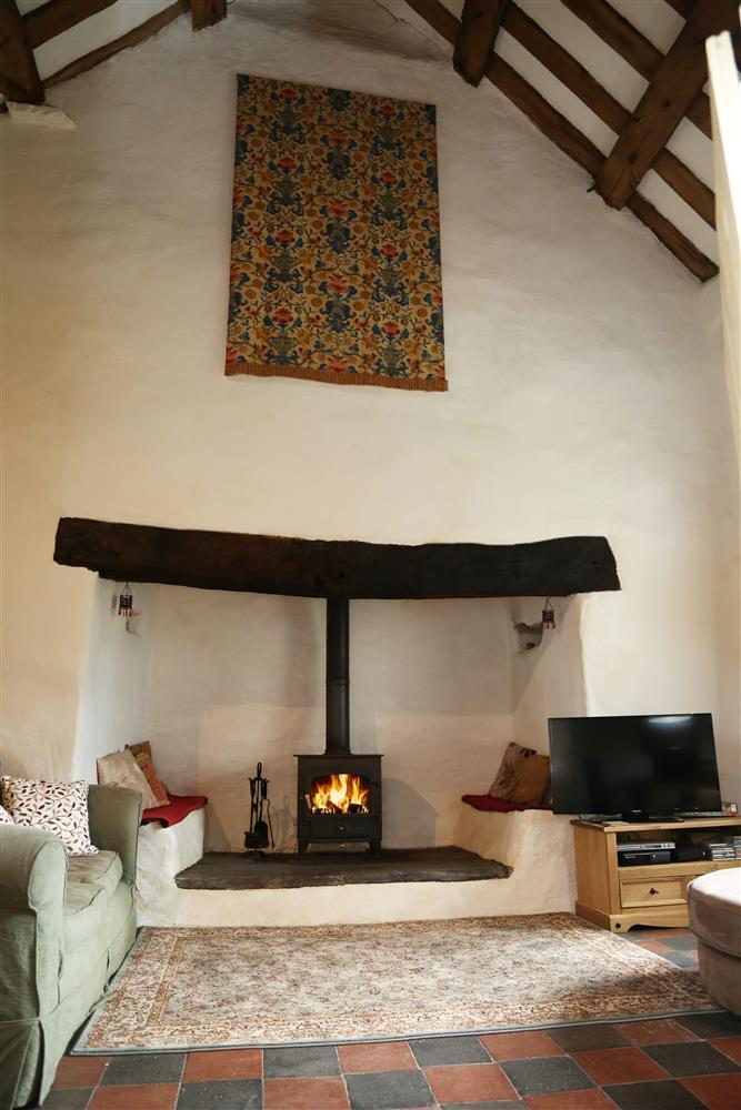 Inglenook in the open living area