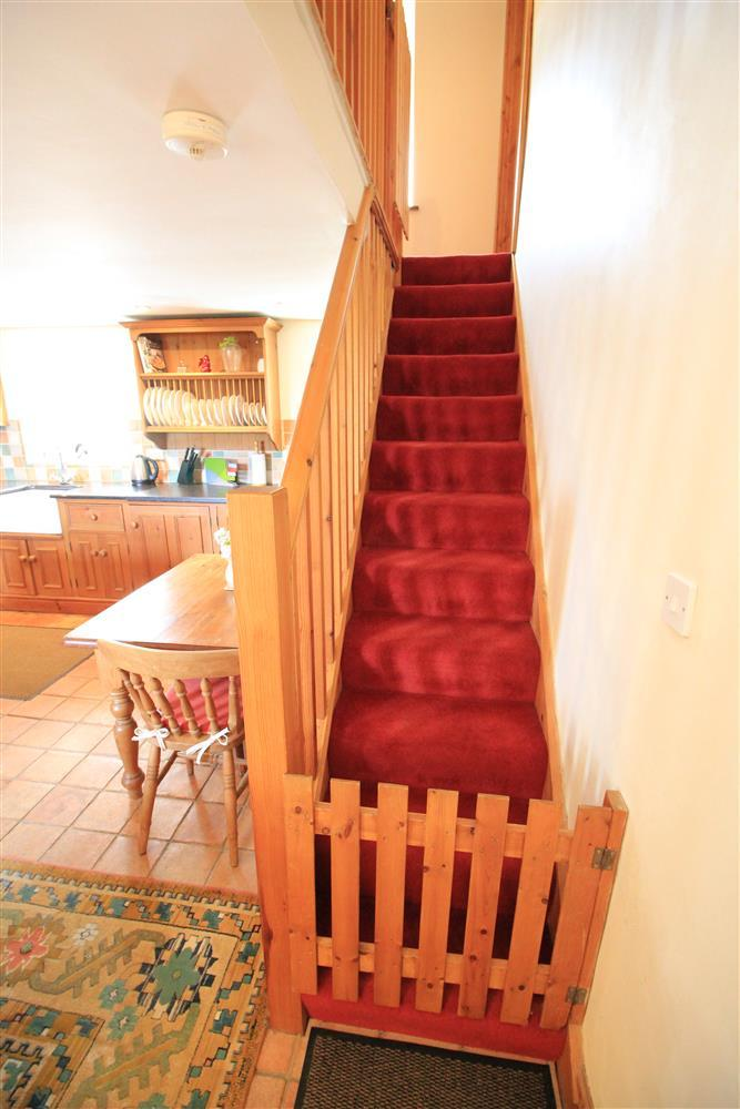 Photo showing the bottom of the stairs