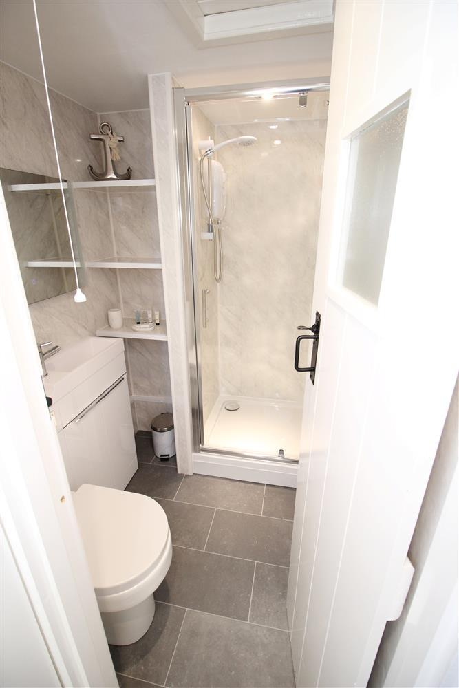 Photo from the doorway fo the Shower Room on the ground floor