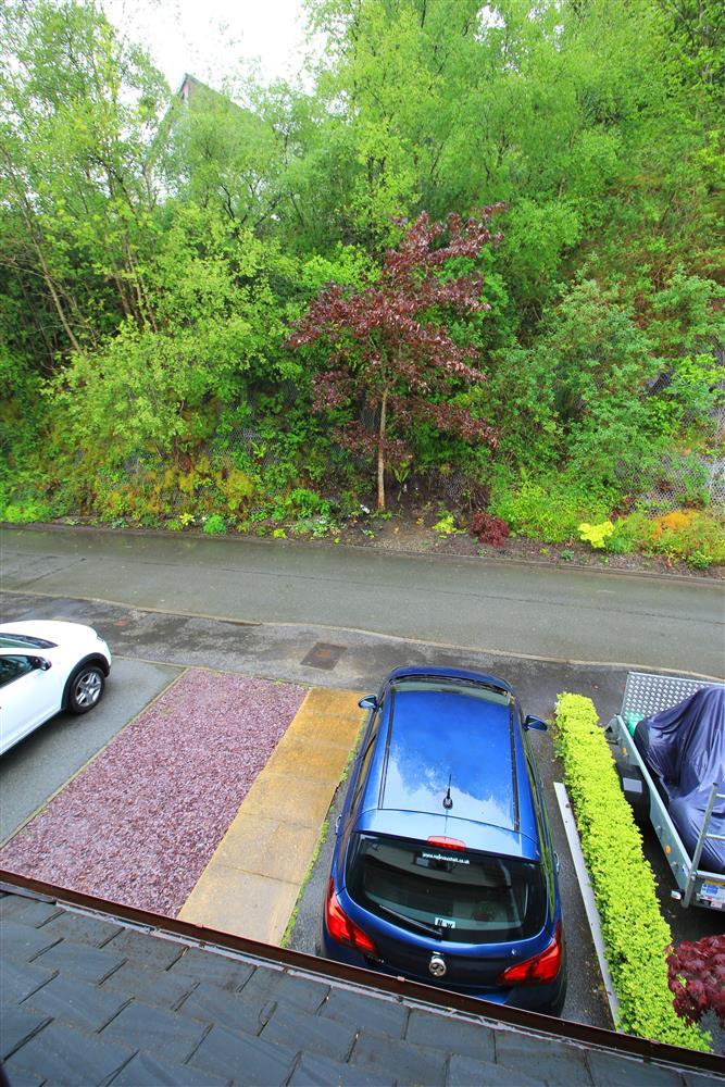 Parking at the front of Heather House. Photo taken from Bedroom 1 window.