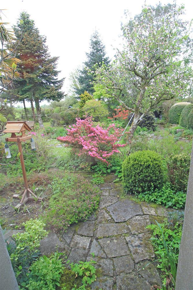 The view of the back garden from bedroom 4 (Ground Floor)